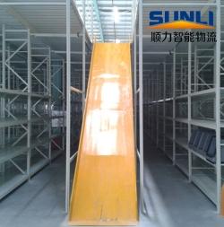 搁楼式货架配合滑梯使用